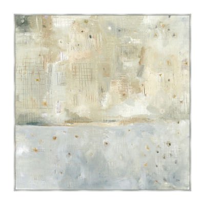 Dreaming Of The Shore Neutral Framed Canvas Art