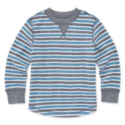 Okie Dokie Long Sleeve Thermal Top-Toddler Boys