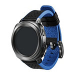 Samsung Gear Sport Compatible Unisex Adult Blue Leather Watch Band-Gp-R600breeaaa