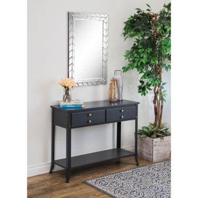 Silver Zig Zag Rectangle Wall Mirror
