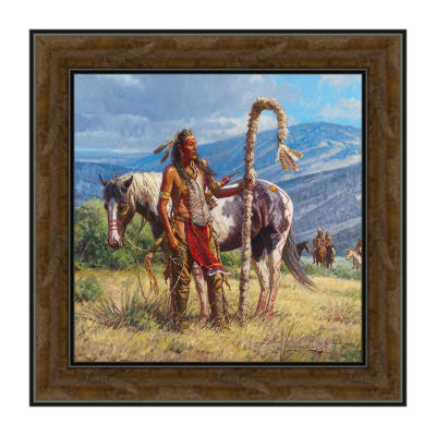Second To The Pipe Carrier Framed Canvas Art