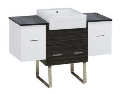 50.75-in. W 18-in. D Modern Plywood-Melamine Vanity Base Set Only In White-Dawn Grey