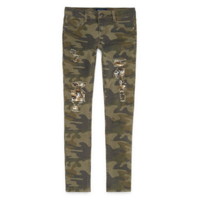 Arizona Camo Shine Skinny Jeans Girls' 4-16 and Plus
