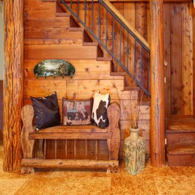 Wall Mounted Coat Rack Cabin Five Hook Coat Rack