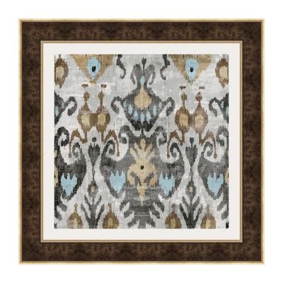 Ikat IV Framed Print