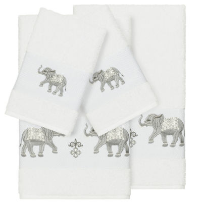 Linum Home Textiles 100% Turkish Cotton Quinn 4PC Embellished Towel Set