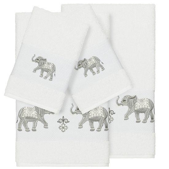 Linum Home Textiles 100% Turkish Cotton Quinn 4PC Embellished Towel Set