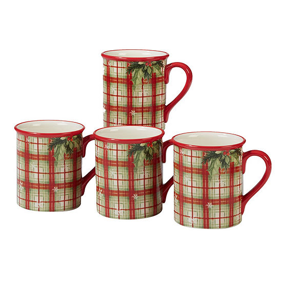 Certified International Holiday Wishes 4-pc. Coffee Mug