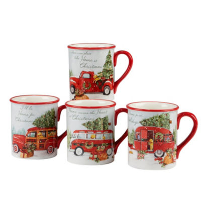 Certified International Home For Christmas 4-pc. Coffee Mug