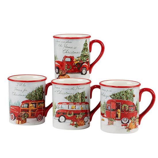 Certified International Home For Christmas 4-pc. Coffee Mug