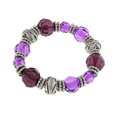 1928 Vintage Inspirations Womens Purple Stretch Bracelet