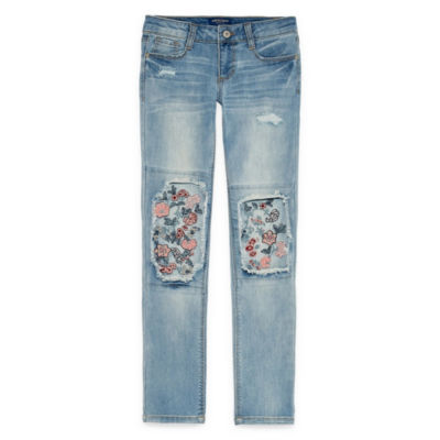 Arizona Floral Motto Jeans Girls 4-16 and Plus