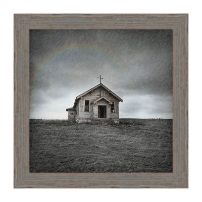 Cowboy Church Framed Canvas Art
