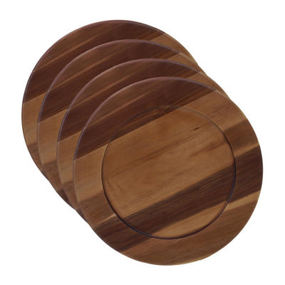 Certified International Acacia 4-pc. Charger Plate