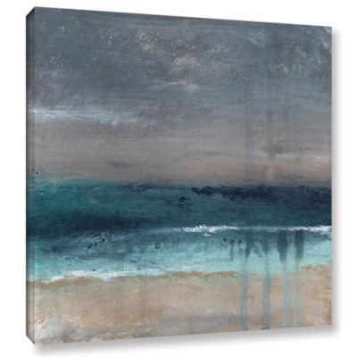 Brushstone Beach V Gallery Wrapped Canvas