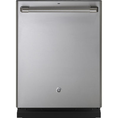 GE Café™ Stainless Interior Built-In Dishwasher with Hidden Controls