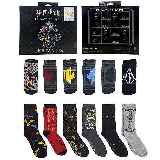 12 Days of Socks Gift Box Harry Potter Crew Socks-Mens