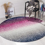 Safavieh Madison Collection Becky Abstract Round Area Rug