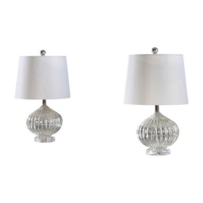 Magnolia Glass Table Lamp Set Of 2