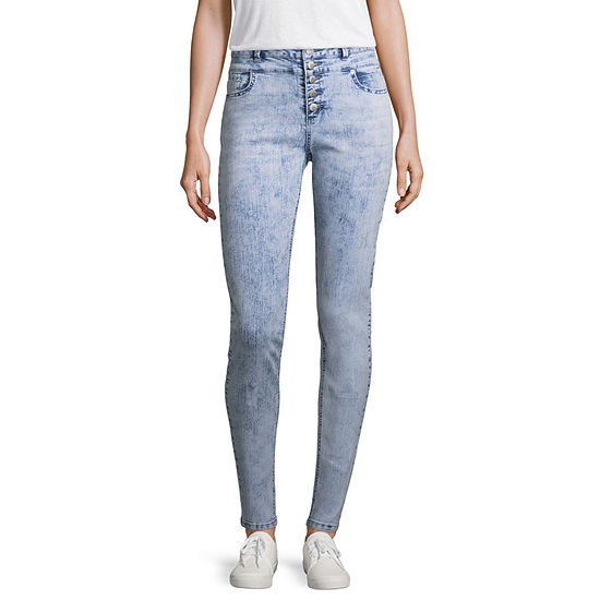 Blue Spice Womens High Waisted Skinny Jeggings - Juniors