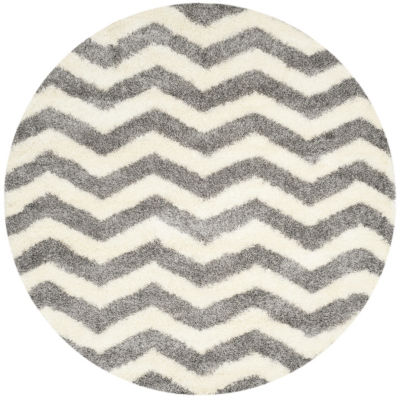 Safavieh Montreal Shag Collection Zoey Geometric Round Area Rug