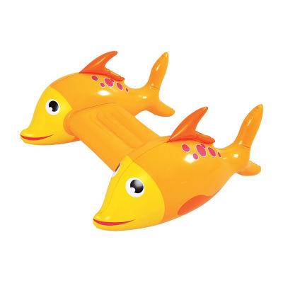 RhinoMaster Play Adventurous Fish Inflatable Kickboard - Orange