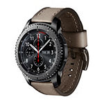 Samsung Gear S3 Compatible Unisex Adult Brown Leather Watch Band-Gp-R765breeaaa