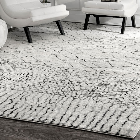 nuLoom Vintage Moroccan Arletta Area Rug, One Size , White