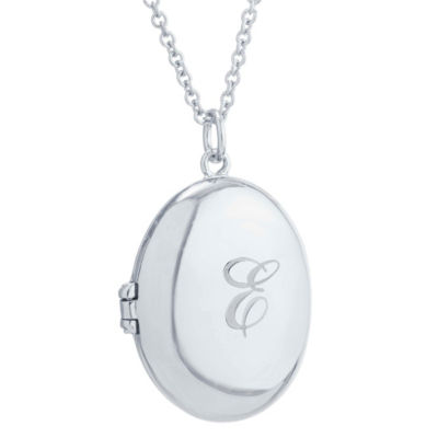 Womens Sterling Silver Locket Necklace