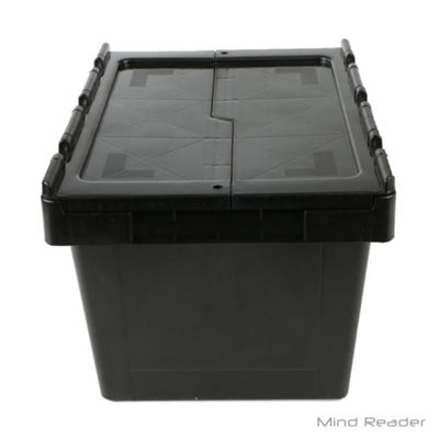 Mind Reader Heavy Duty Plastic Crate Storage Bin, Black