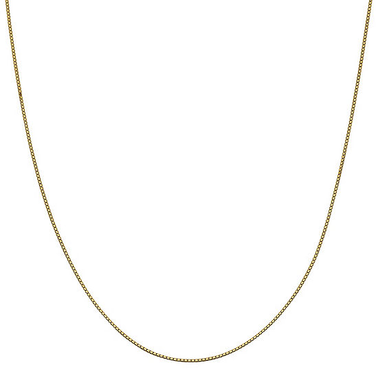 14K Gold 30 Inch Solid Box Chain Necklace