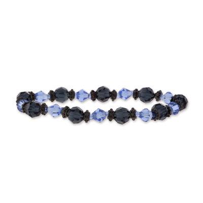 1928 Vintage Inspirations Blue Round Stretch Bracelet