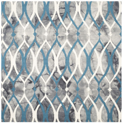 Safavieh Dip Dye Collection Harlan Geometric Square Area Rug