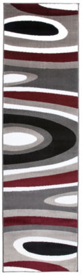 World Rug Gallery Abstract Contemporary Modern Runner Rug