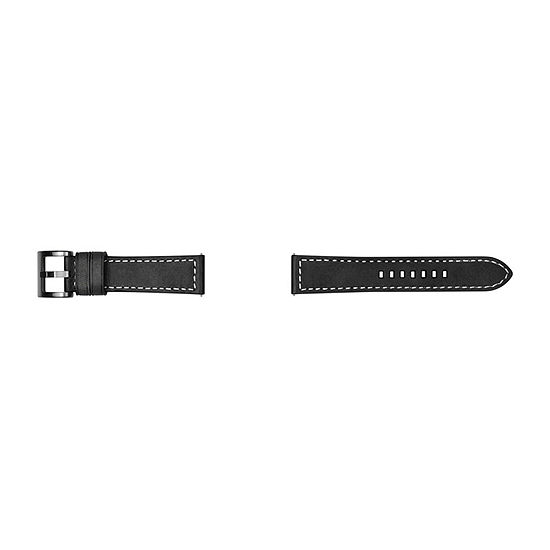 Samsung Galaxy 46mm Compatible Mens Black Leather Watch Band-Gp-R765breeeaa