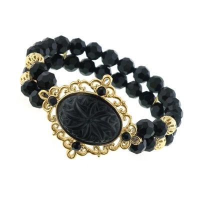 1928 Vintage Inspirations Womens Black Stretch Bracelet