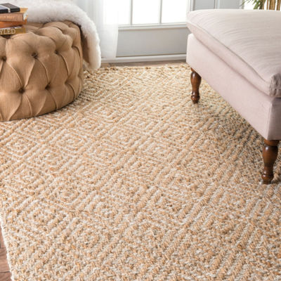 nuLoom Alanna Diamond Jute Rectangular Rug