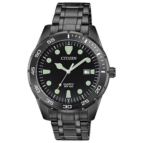 Citizen Mens Black Bracelet Watch Bi1045 56e