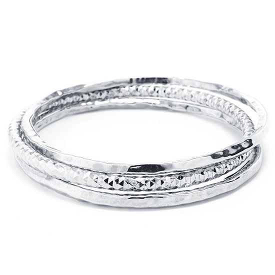 Womens 3-pc. Sterling Silver Bracelet Set