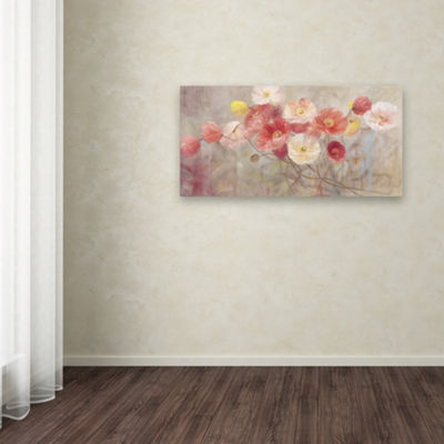 Trademark Fine Art Li Bo Wild Poppies I Giclee Canvas Art