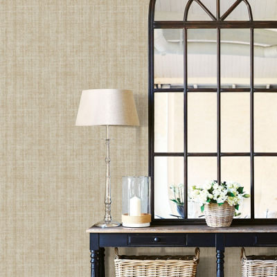 Brewster Wall Ramie Linen Peel & Stick Wallpaper Wall Decal