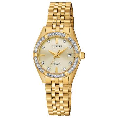 Citizen Womens Gold Tone Bracelet Watch-Eu6062-50q