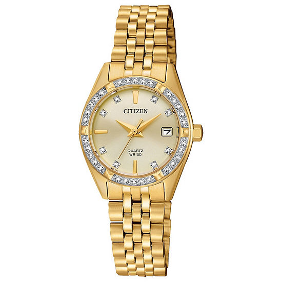 Citizen Womens Gold Tone Stainless Steel Bracelet Watch - Eu6062-50q