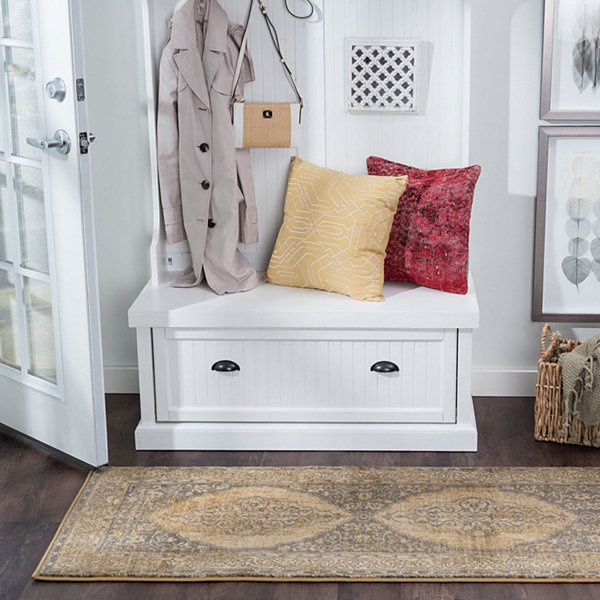 Tayse Harper Transitional Border Runner Rug