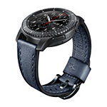 Samsung Gear S3 Compatible Unisex Adult Blue Leather Watch Band-Gp-R765breeaac