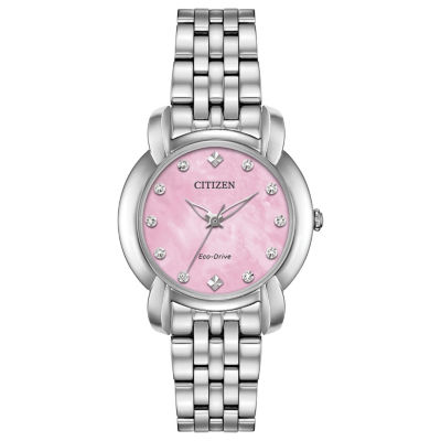 Citizen Womens Silver Tone Bracelet Watch-Em0710-54y