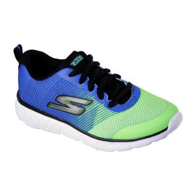 Skechers Go Run Boys Walking Shoes Lace-up - Little Kids