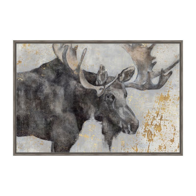 Alces Trail I Framed Canvas Art
