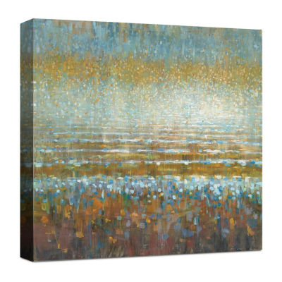 Rains Over The Lake Canvas Art