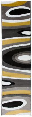 World Rug Gallery Abstract Contemporary Modern Runner Rug